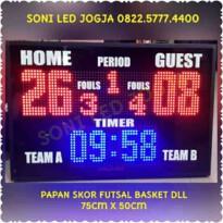 Papan led futsal digital wirelles Scoreboard basket Scorboard skoring digital skoringboard Skoring papanskor PS750T wireles – 0822.5777.4400