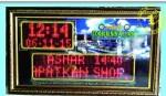 Jam sholat/jam masjid+Tulisan Berjalan MURAH/0822.5777.4400 90×50