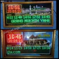Jam masjid/jam sholat 110cmX60cm+Runningtext input keyboard/0822.5777.4400