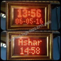 Jam Sholat/Jadwal Sholat Simpel+ Iqomah/SoniLed/0822.5777.4400 bergaransi 1 th bisa tampil Hari,jam,tgl,bln,thn,5 waktu sholat dan iqomah bergantian
