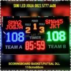 Skoring futsal digital scoreboard basket papanskor score scoringboard led papan skor wireles jarak jauh PS116T – 0822.5777.4400