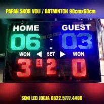 Papan skor Badminton volley voli tenis WIRELES jarak jauh scoringboard papan skor Skoring voly scoreboard batminton skoring PS960V – 0822.5777.4400